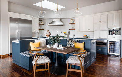 Kitchen of the Week: A Hardworking Island Creates Efficient Zones