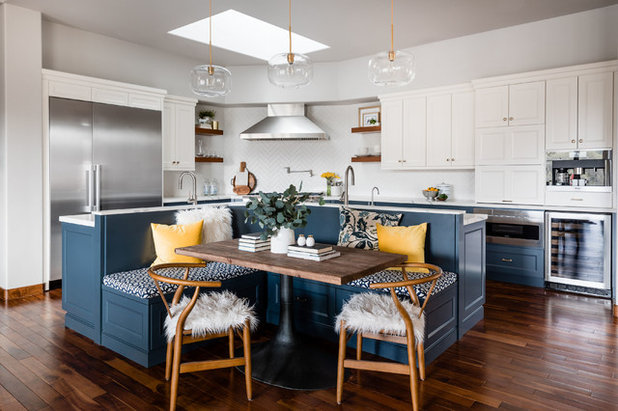 Transitional Kitchen by Precision Cabinetry and Design