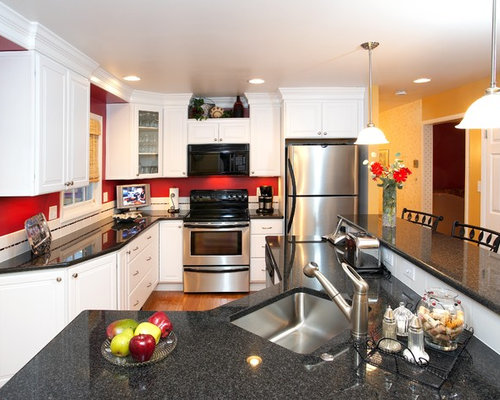 Charmant Red Accent Wall Kitchen