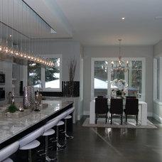 Transitional Kitchen by Vincent Flasch Interior Design Inc.