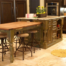 Eclectic Kitchen by Cabinetry Dynamics