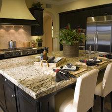 Eclectic Kitchen by Vicki Bergelt Interior Design
