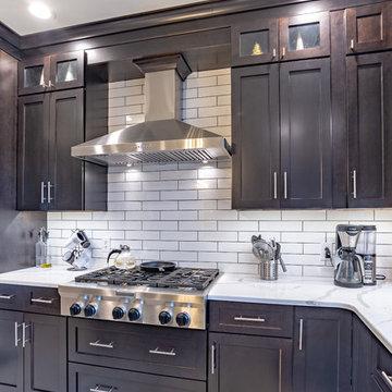 Elegant Dark Shaker Kitchen by John Cisneros