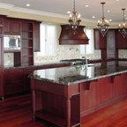 Cherry Kitchen Cabinets | Rockford Door Style | CliqStudios - Contemporary - Kitchen ...