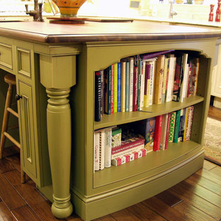 Elegant Kitchen Remodel - Tea Green Island