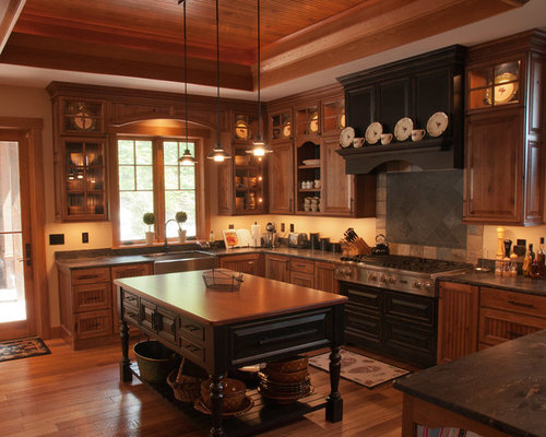 Elegant lodge houzz for Cabico kitchen cabinets reviews