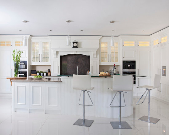 White And Grey Traditional Kitchen traditional white kitchen | houzz