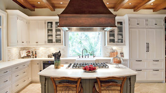 Elegant Traditional Kitchen Beaded Inset