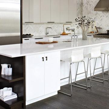 Elegant White IKEA Kitchen