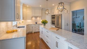 Elegant White Shaker Kitchen in Brookline NH