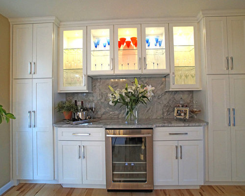 Elegant white shaker kitchen for Kitchen cabinets 63021