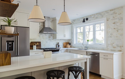 Cool Color Palette Enhances Light in a Toronto Kitchen