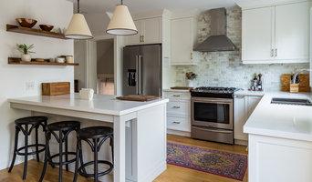 Eleventh Street- Transitional white kitchen