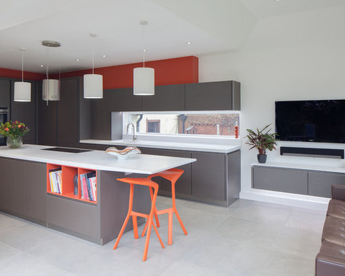 Contemporary Kitchen Island Cool Modern Kitchen Island  Houzz Decorating Inspiration