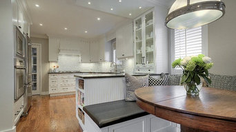 Elmwood Transitional White Kitchens