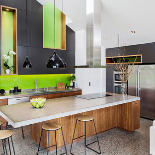 Contemporary kitchen in Melbourne.