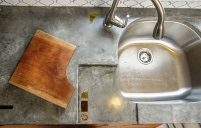 Cast Concrete Countertops With a Personal Twist