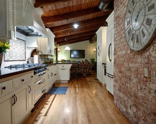 Mediterranean Galley Open Plan Kitchen Ideas & Inspiration