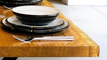 Engish Oak Live Edge Dining Table