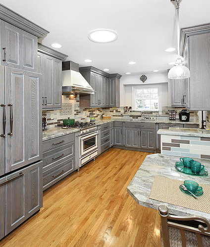 Gray Stained Cabinets Home Design Ideas, Pictures, Remodel and Decor