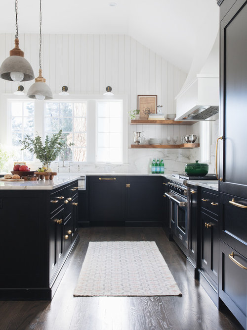 White Kitchen Ideas Pictures Part - 47: Mid-sized Transitional Kitchen Remodeling - Kitchen - Mid-sized  Transitional L-shaped