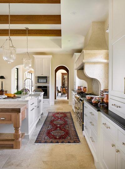 Mediterranean Kitchen by Keith Wing Custom Builders