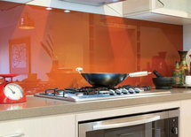 What colour is this splashback please? The ogange