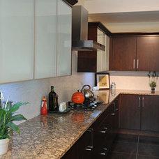 Contemporary Kitchen by Edmonton Kitchen & Bath Cabinet Inc.