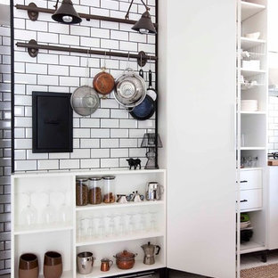 Kitchens With White Subway Tile And Grey Grout