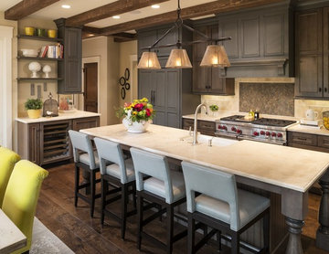 European Charm Meets Modern Kitchen