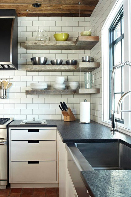 Transitional Kitchen by Burns and Beyerl Architects
