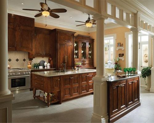 Huge Victorian Open Concept Kitchen Photos   Huge Ornate U Shaped Ceramic  Floor Open Concept