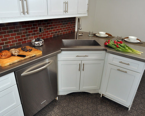 Corner Kitchen Sink Home Design Ideas, Pictures, Remodel And Decor