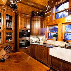 Rustic Kitchen by Monica Durante Interiors, Inc