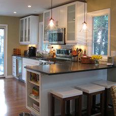 Transitional Kitchen by MADLAB LLC