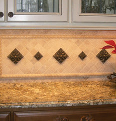 traditional kitchen by Exact Tile