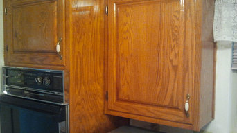 Existing Kitchen Cabinet Upgrade with New Hardwood Raised Panel Doors & Drawers