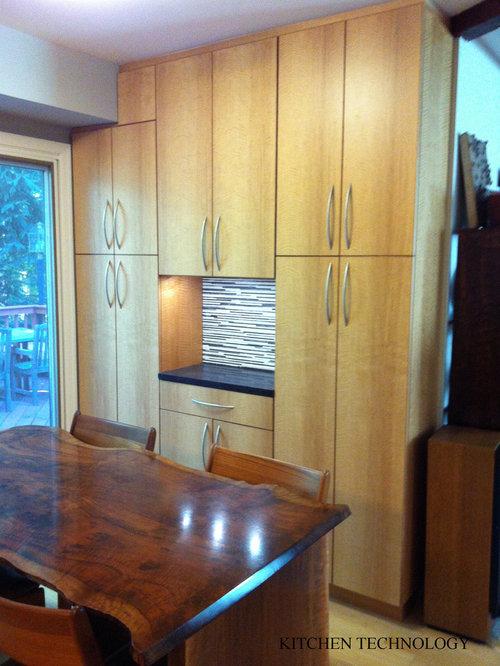 Exotic anigre kitchen for Anigre kitchen cabinets