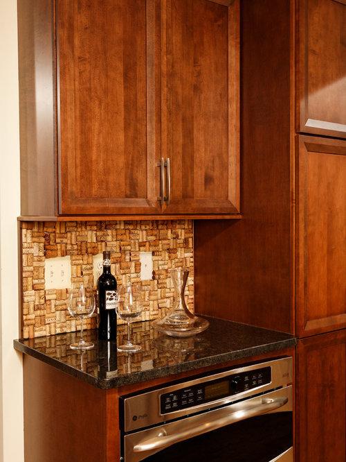 wine cork backsplash home design ideas pictures remodel
