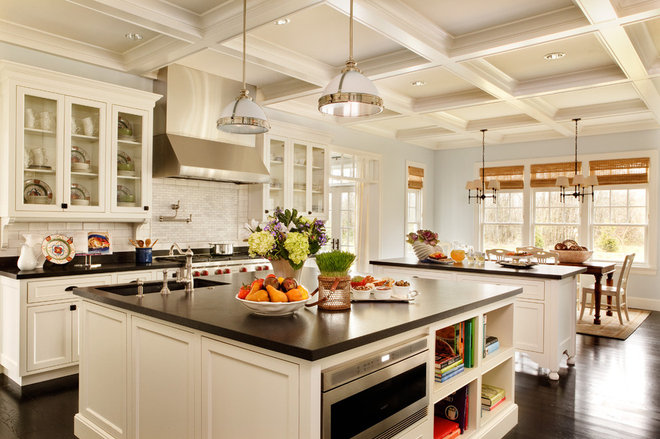traditional kitchen by Garrison Hullinger Interior Design Inc.