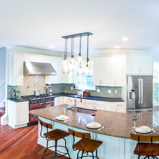 Expansive Kitchen with Granite L-Shaped Island in Glen Mills PA