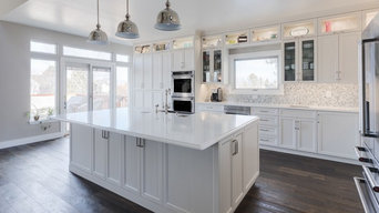 Expansive Transitional Kitchen in White