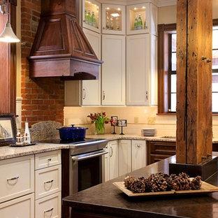 Exposed Brick and Beams Kitchen Renovation St. Louis, MO