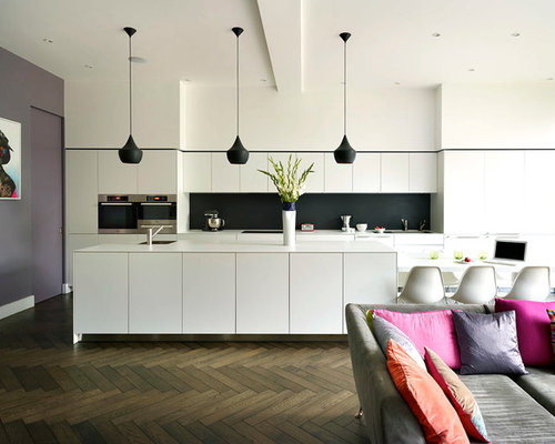 Charming Inspiration For A Contemporary Kitchen Remodel In London