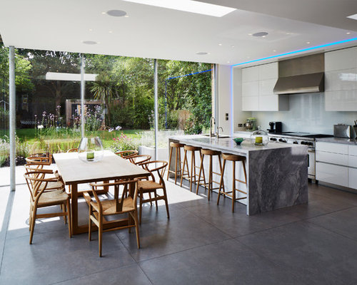 Kitchen ideas inspiration with white cabinets and marble for Kitchen ideas westbourne grove