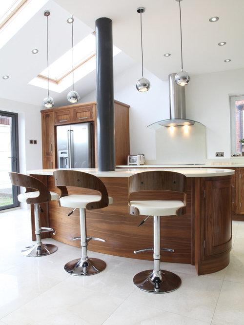 Kidney Shaped Island Kitchen Design Ideas & Remodel Pictures   Houzz