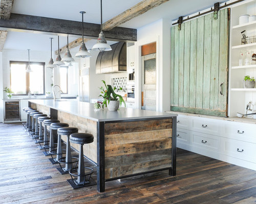 Huge Farmhouse Eat In Kitchen Designs   Inspiration For A Huge Farmhouse  L Shaped