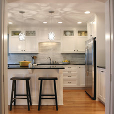Transitional Kitchen by Anna Berglin Design