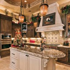 Mediterranean Kitchen by Trinity Custom Builders