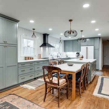 Fairfax Station, VA Transitional Grey Kitchen Remodel